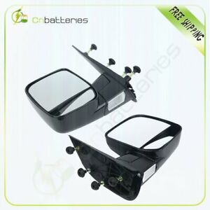 For 02 08 Ford E150 e550 Van Driver Passenger Pair Fold Side View Mirrors New