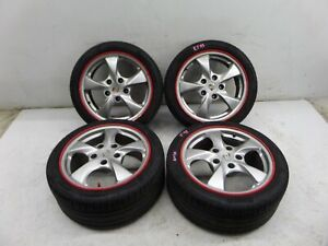 17 Porsche Boxster Cayman Staggered Wheels 986 5 130 7 8 5 55 48 Oem