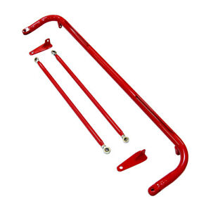 49 Red Stainless Steel Racing Safety Seat Belt Roll Harness Bar Kit Rod
