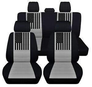 Front And Rear Customized Seat Covers Fits 2012 To 2020 Dodge Ram American Flag