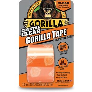 Gorilla Tape Crystal Clear Repair Tape Flexible Underwater Use 1 5in X 15ft Roll