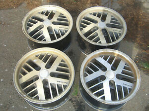 Set Of Vintage Original Pontiac Firebird Formula Hi Tech Deep Dish Turbo Wheels