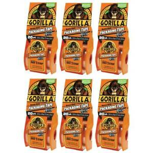 Gorilla Packaging Tape With Dispenser Refillable Wide 2 83in X 20yd Clear 6 pack