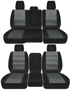 Front back Truck Car Seat Covers Blk charcoal Fits Dodge Ram 2011 2018 1500 2500