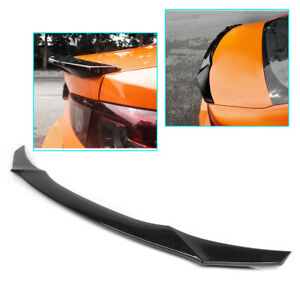 1x Abs Accessories Rear With Wing Spoiler Cover Trim For Mazda 3 Axela 2019 2020