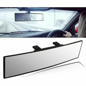 Us Broadway 300mm Wide Convex Interior Clip On Rear View Clear Mirror Universal