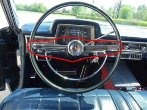 1966 Plymouth Fury And Vip Steering Wheel Center Chrome Bar Ps18 9n3
