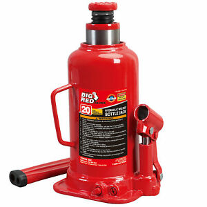 Torin Big Red 20 Ton Capacity Heavy Duty Hydraulic Welded Industrial Bottle Jack