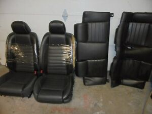 10 12 Ford Mustang Black Leather Power Seats Convertible Low Mileage