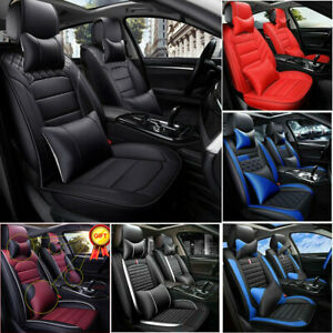 11pieces Car Seat Cover Full Set Front Rear Protector cushion Leather Interior