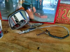 1970 1973 Buick Skylark Riviera Driver Side Remote Cable Mirror Nice Cond Oem