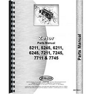 Parts Manual For Zetor 7711 Tractor