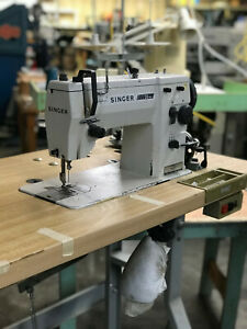 Singer 20u53 Zigzag And Straight Stitch Industrial Sewing Machine