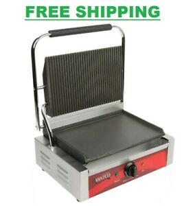 Avantco Commercial Panini Sandwich Press Grill Countertop Restaurant Equipment