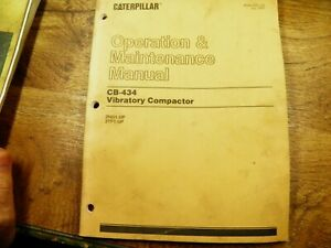 Cat Caterpillar Cb434 Vibratory Compactor Operation Maintenance Manual 2ng 3tf