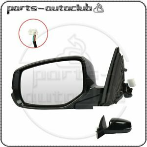 For 2013 2016 Honda Accord Left Side Mirror Black Signal Lamp Power Heated