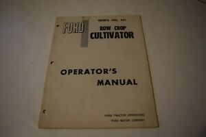 Ford Row Crop Cultivator Operator s Manual