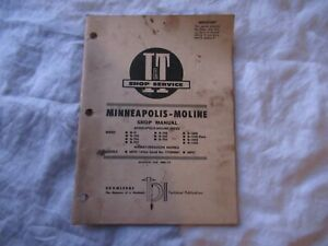 Minneapolis Moline Gvi G 705 706 707 G950 1000 G1050 Tractor Service Shop Manual