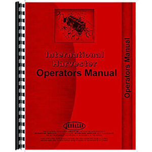 Operator s Manual For International Harvester A 21 Mower sickle Bar Mower