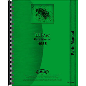 Parts Manual For Oliver 1955 Tractor