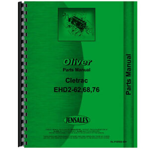 Parts Manual For Oliver Ehd2 68 Crawler
