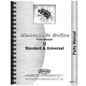 New Parts Manual Made For Minneapolis Moline Tractor Model Utu