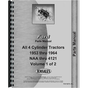 New Ford 4000 Tractor Parts Manual 4 Cyl Only