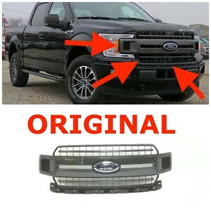 2018 2019 Ford F 150 Xlt Sport Front Upper Bumper Grille Magnetic Gray