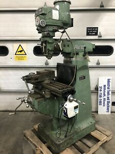 Alliant 9 x42 Milling Machine With Yuasa Vise And R8 Collets Bridgeport Type