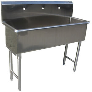 Custom Made Commercial Hand Sink Stainless Steel 4 Feet Wide