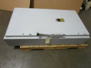 Square D H225 Fusible 400 A Amp 240v Safety Switch 2 Pole Disconnect Series E2