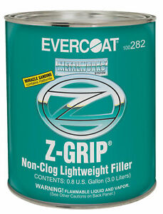 Evercoat Z Grip Auto Body Non Clog Lightweight Filler 1 Gallon
