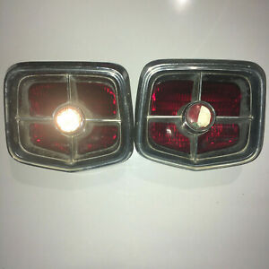 Pair Used 1963 Plymouth Belvedere Fury Wagon Rear Taillight Lens Bezel Housing