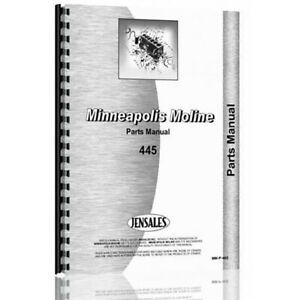 Parts Manual For Minneapolis Moline 445 Tractor Rc And Utility r 1157c