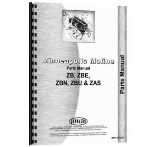 New Parts Manual For Minneapolis Moline Zas Tractor
