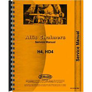 Service Manual For Allis Chalmers H4 Hd4 Crawler
