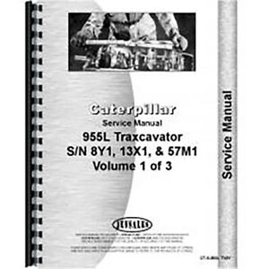 Fits Caterpillar 955l Traxcavator Service Manual new 8y1 13x1 And 57m1