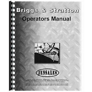 New Tractor Operator Manual bs o wm Fits Briggs And Stratton