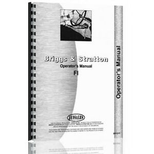 New Tractor Operator Manual bs o fi For Briggs Stratton