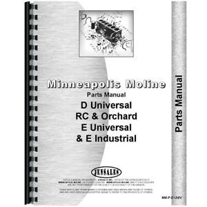 New Parts Manual Made For Minneapolis Moline Tractor Model E Universal