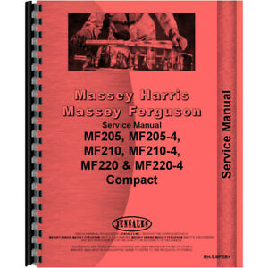 New Service Manual For Massey Ferguson Mf210 Compact Tractor