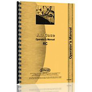 Tractor Operator Manual Fits Case Rc