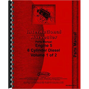 New International Harvester Tractor 100 Engine Parts Manual