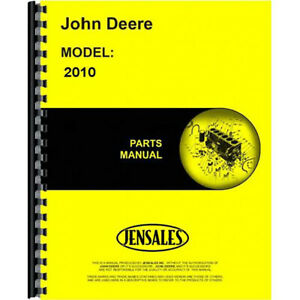 Fits John Deere 2010 Tractor Parts Manual