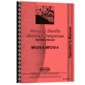 New Fits Massey Ferguson 210 Tractor Operator Manual