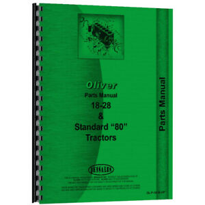 Tractor Parts Manual For Oliver 80