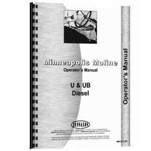 Tractor Operator Manual For Minneapolis Moline U