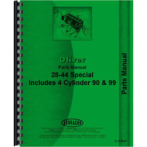 Parts Manual For Oliver Hart Parr 90 And 99 1938
