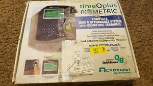 Tq100 Timeqplus Acroprint Time And Attendance System Biometric Terminal