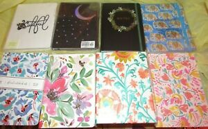 Lot Of 8 Journal Books Leather Floral Flower Bee Elephant Etc New Free Jewelry